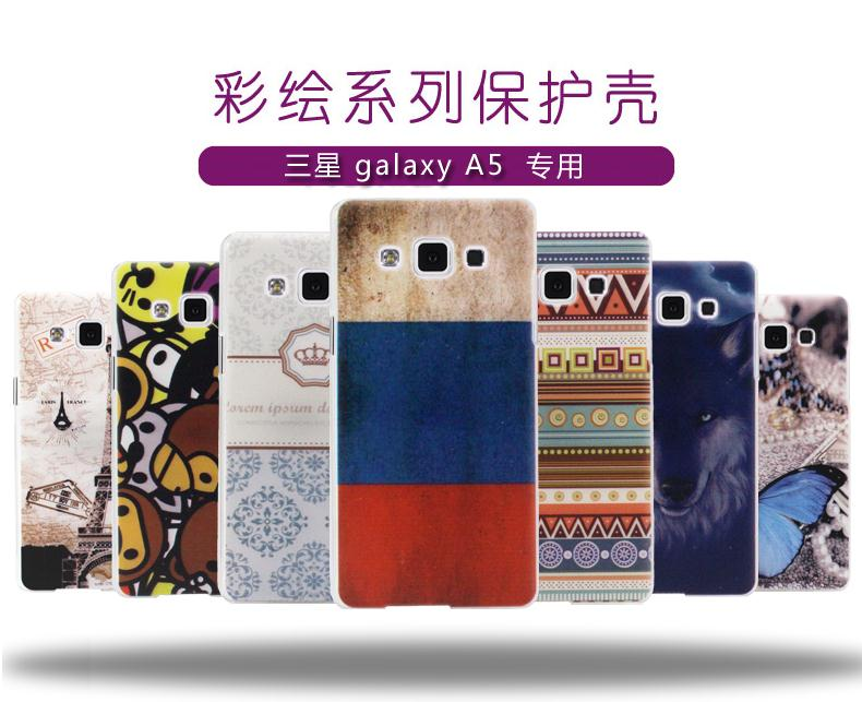 Design Hard Plastic case Samsung galaxy A5 A5000 Case phone A5009 back cover Shell Cover patterned - Myding 3C Store store