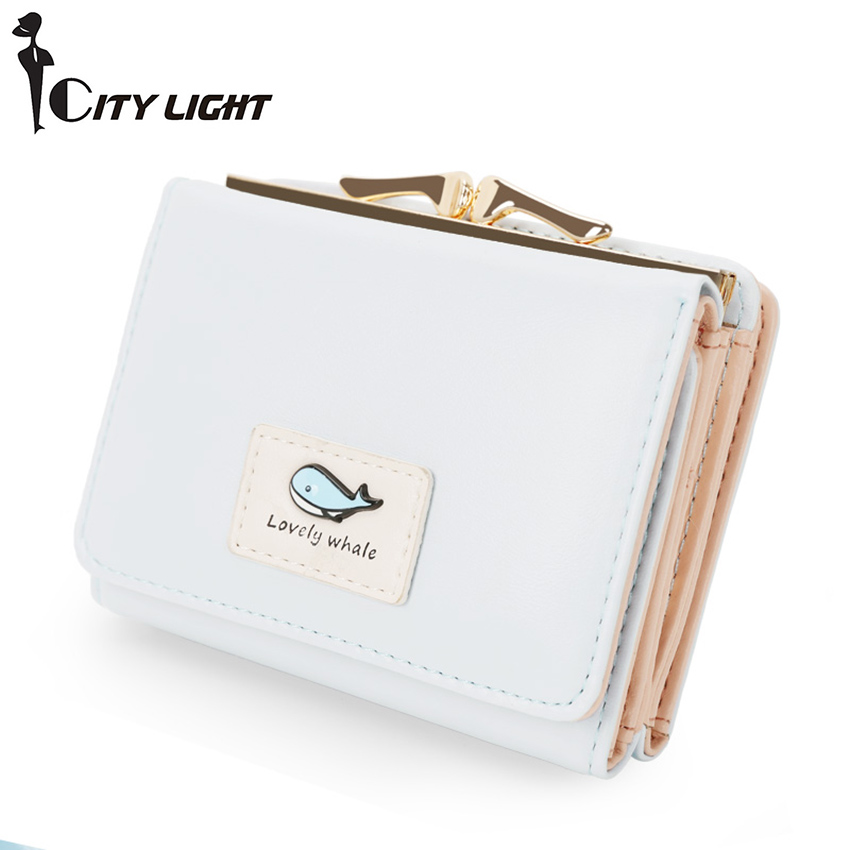 Brand new arrival fashion women wallet small wallets short design simple cute coin purse three fold multi-function Purse(China (Mainland))