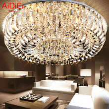 flush mount K9 crystal modern  minimalist lamp living room remote control lamps  High-end European-style chandelier(China (Mainland))