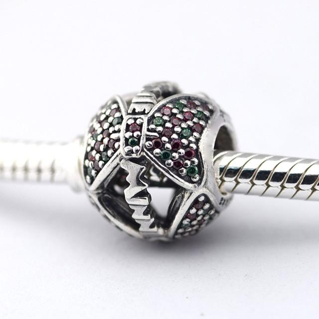 925 - серебристо-ювелирные бусины проложить CZ игристые бусины Fit пандора оригинальный браслет серебряный DIY 925 оптовая продажа
