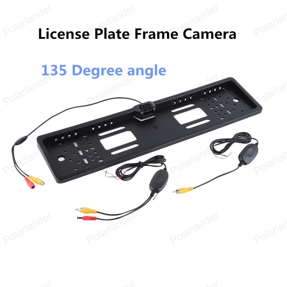 656*492 pixels Wireless Car Licence Plate Frame camera 135 Degree angle Backup rear view Camera(China (Mainland))