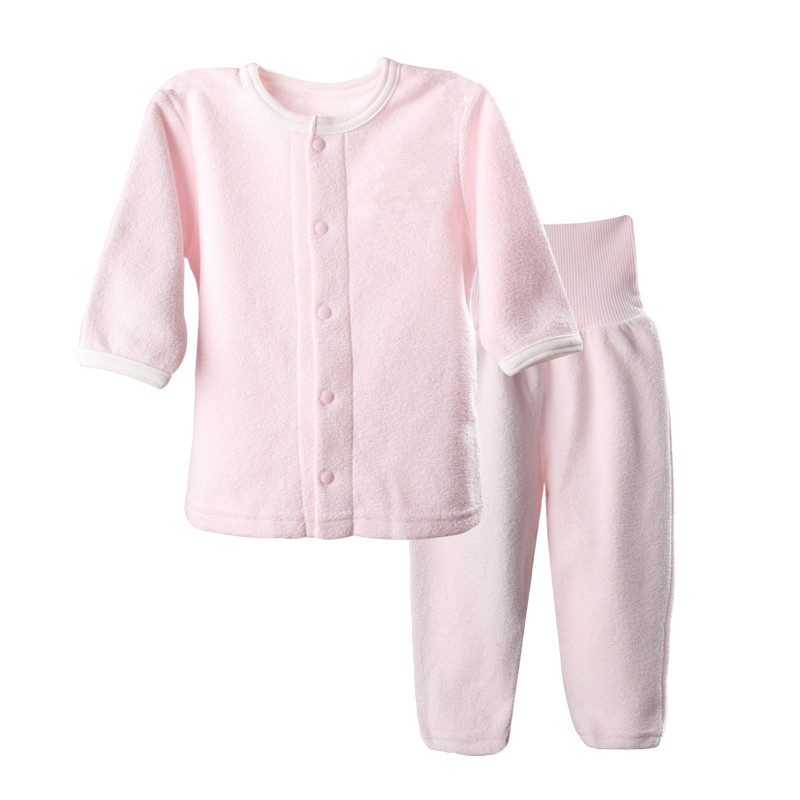 Girl's Sets Clothes Autumn Winter Children's Thermal Underwear clothing infant long full sleeve flannel suits(China (Mainland))