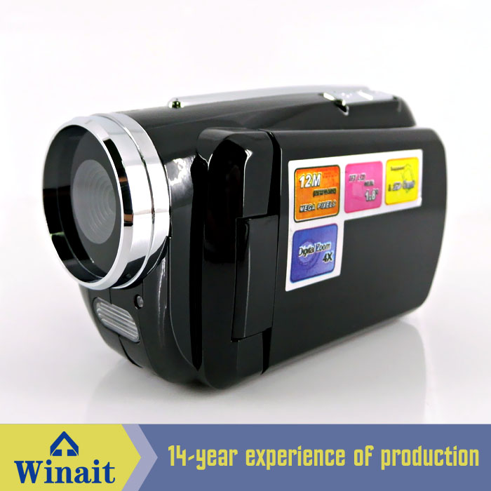 Freeship Cheap Winait Beginner Digital Video Cameras Camcorder 12MP with 4X Digital Zoom with Battery(China (Mainland))