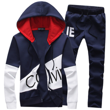 Newest design spring men hoodies suit fashion sport suits tracksuits sweatshirt pants M-5XL DCL84