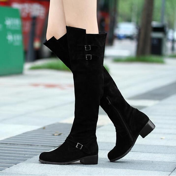 Aliexpress.com : Buy Genuine Leather Women Winter Long ...