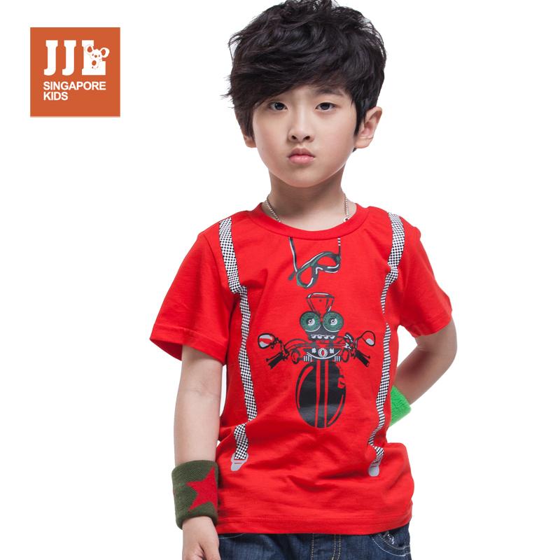 boys t shrit spider funny image print kids shirt 100% cotton brand children summer clothing fashion size 3-12(China (Mainland))