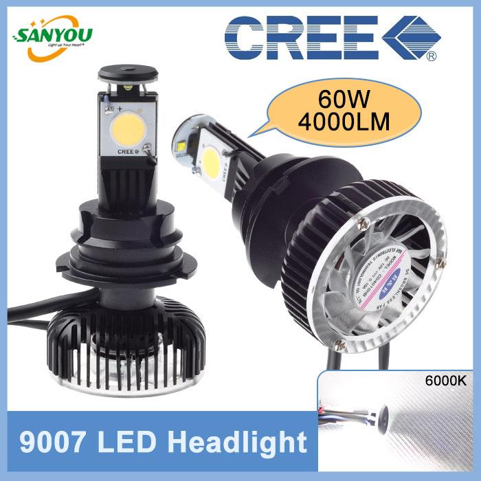 Hotest 1 Set 60W 4000LM 6000K 9007 hi/lo CREE 1512 Led Headlight Kit Bulb Fog Headlamp White for all cars Mazda Focus