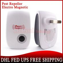 500 Pieces Electronic Ultrasonic Pest/Mouse Repeller Elector Magnetic White Free DHL EMS(China (Mainland))