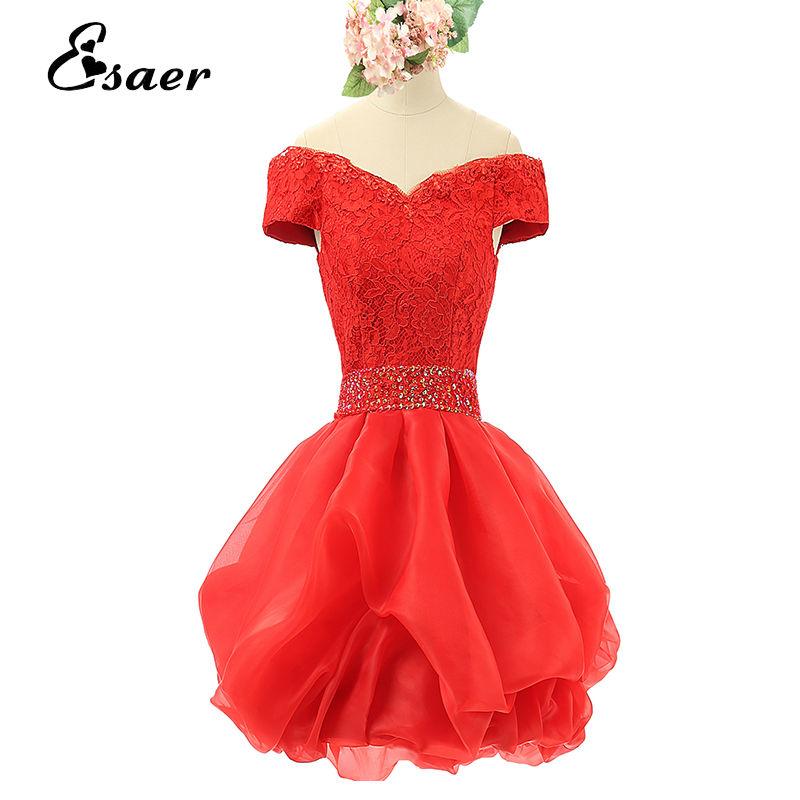 Fashion Lace Sleeveless short Formal Evening Dress 2015 Back Prom Dresses vestido de festa - Esaer Wedding Store store