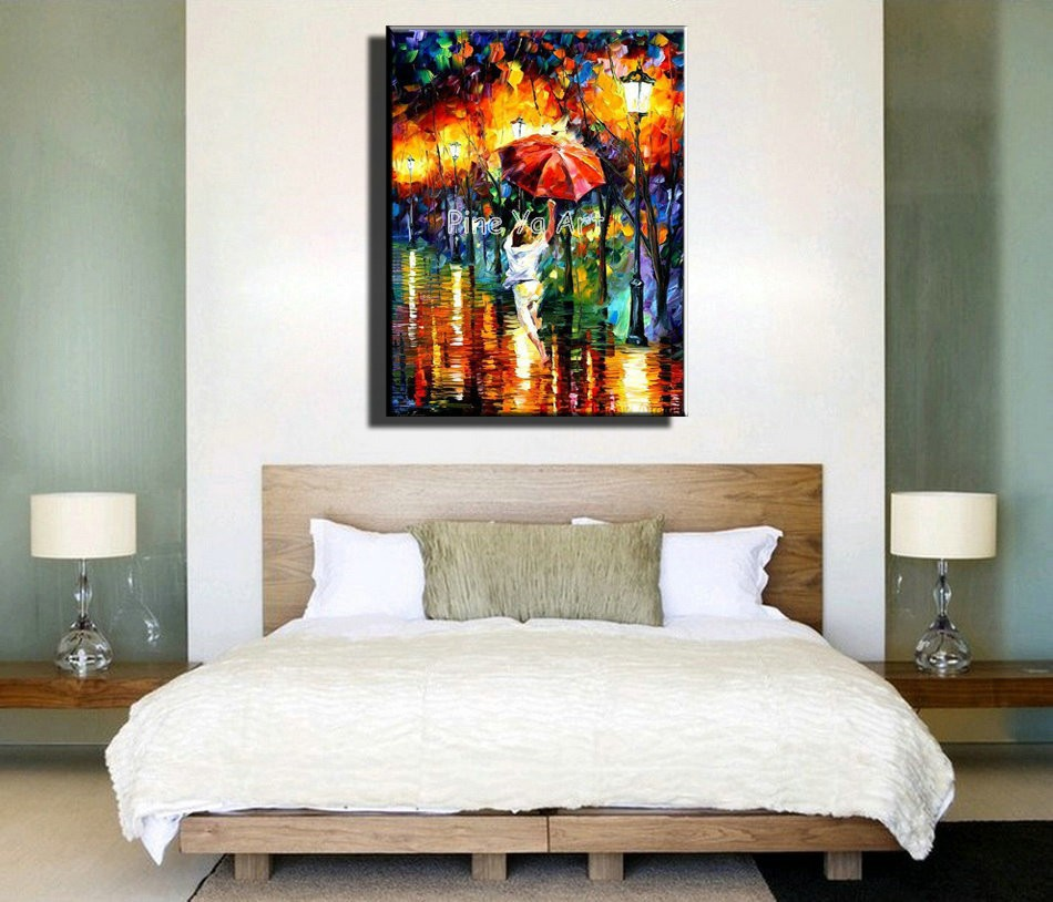 Buy Abstract Modern canvas wall art decorated kitchen Knife handmade oil painting on canvas for living Dinning room  decoration cheap