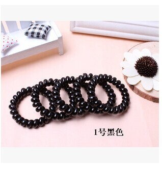 10pcs/lot High elastic rope phone line string hair tie ponytail holders girls women hair band W2011(China (Mainland))