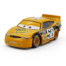 A01-0331 Funny Pixar Cars diecast figure toy Alloy Car Model for kids children toy-yellow color race car NO.58 1pcs
