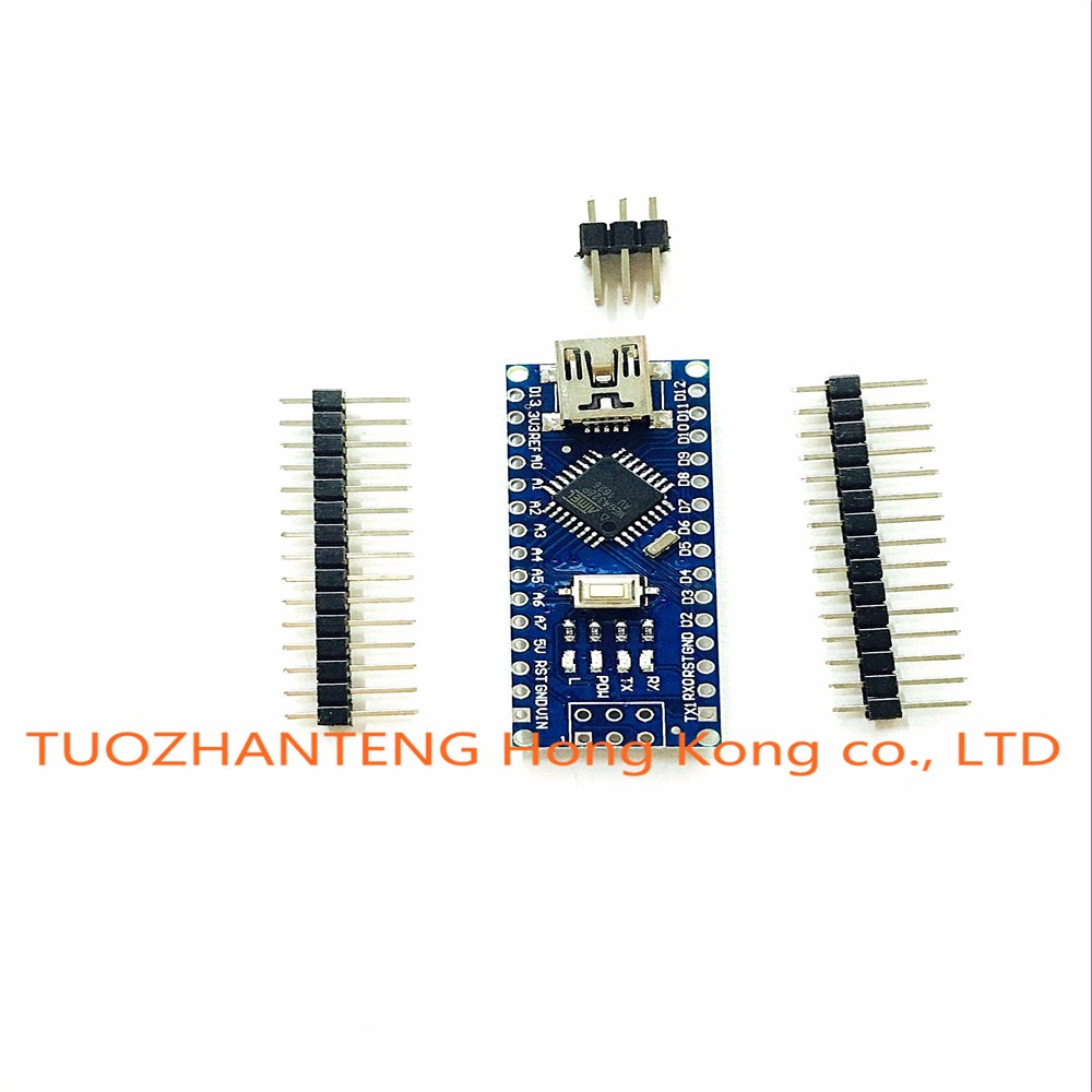 Freeshipping ! 50PCS Nano 3.0 controller compatible with arduino nano CH340 USB driver NO CABLE NANO V3.0