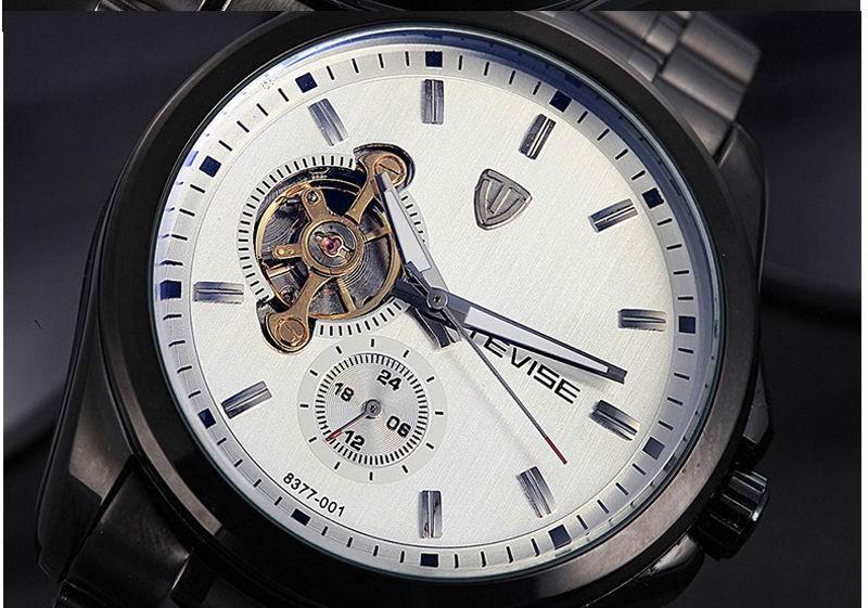 Мужская Бизнес Часы Лучший Бренд Класса Люкс Водонепроницаемый Турбийоном Человек Сапфир Зеркало Спорт Механические Наручные Часы Мужчины Часы