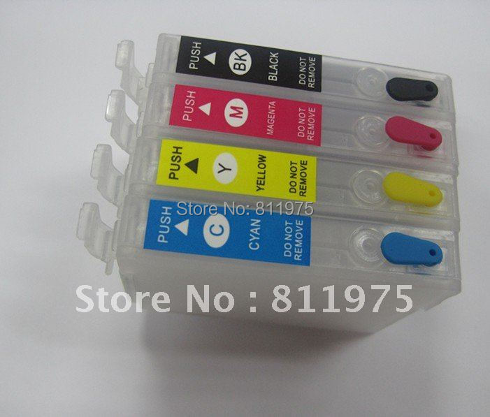 Free Shipping 10sets/lot 140 T1401 T1402 T1403 T1404 refillable ink cartridge for epson  Stylus Office  TX620FWD TX560WD T40WD<br><br>Aliexpress