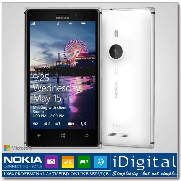 "Original Nokia Lumia 925 Windows Phone 4.5"" 16GB Dual Core 1.5GHz 1GB RAM 8.7MP 3G GPS WIFI Smartphone Refurbished(China (Mainland))"