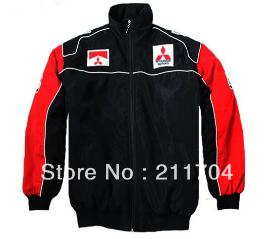 Men's Cotton Jacket, Coat Embroidery Racing Clothes Logo for Mitsubishi Auto Advertising ,Casual Coat(China (Mainland))