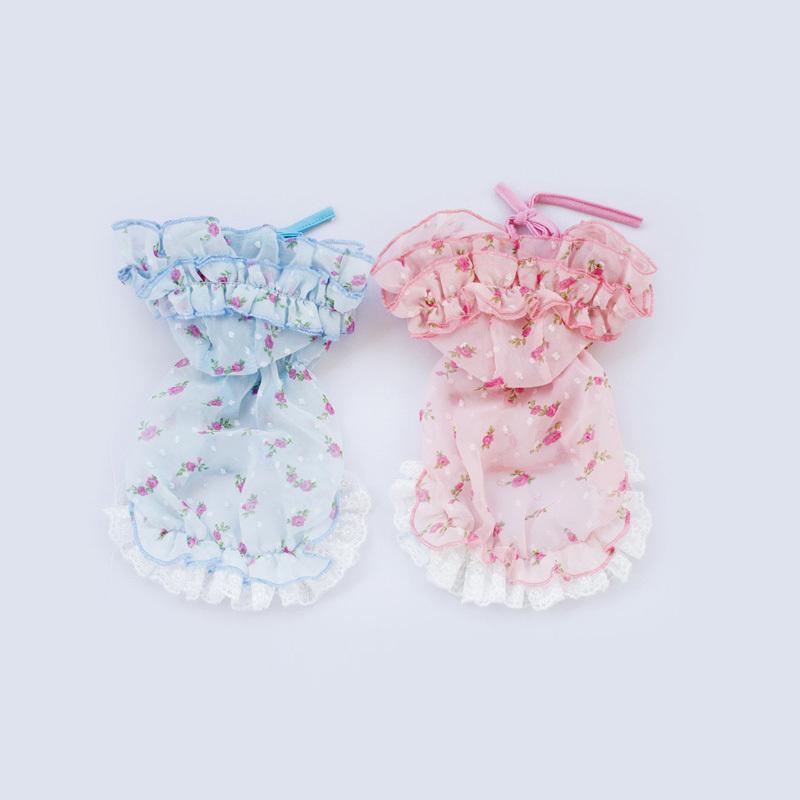 2015 Hot Summer Pet Puppies Chihuahua Clothes Dog Floral Dress Chiffon Skirt, Ropa De Perros Vestidos XS S M L XL Free Shipping(China (Mainland))