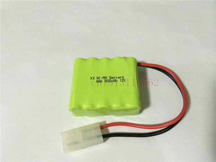 2PCS/lot 100% Original Brand New KX Battery Pack 12V 800mAh AAA NIMH Rechargeable Battery With Plug Free Shipping(China (Mainland))