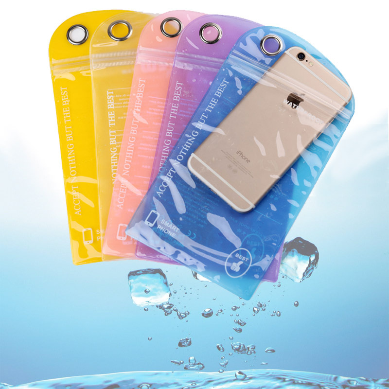 Sealed Waterproof Bag Underwater Pouch Phone Cases for iPhone 6 / 6 Plus/ 5S Samsung Galaxy S6/ S5/ S4/ Samsung Note 4 / 3 / 2(China (Mainland))