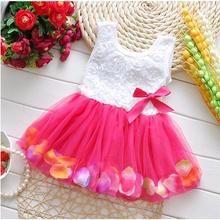 Newborn baby girl summer lace vest dress,  flower girl patchwork kids clothing boutique for party dress(China (Mainland))