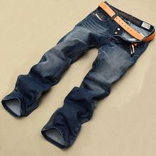 High Quality Italian Fashion Mens Jeans Brand Printed Robin Denim Jeans Men Casual Designer Pants Blue Color Wholesale(China (Mainland))