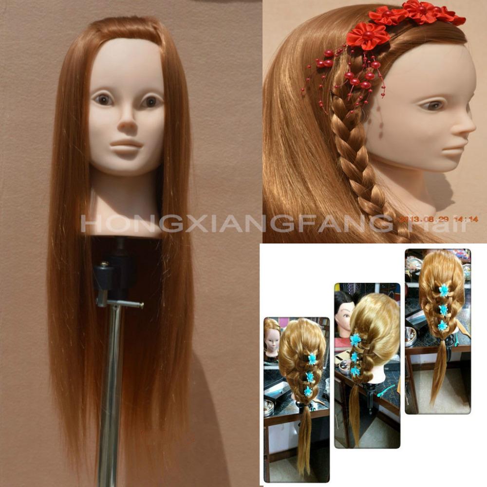 """24"""" Yaki Hair Training Head Mannequin Head Dummy Maniquies Women Cosmetology Mannequin Heads Hairdresser Mannequin Head(China (Mainland))"""
