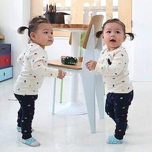 Baby  clothing set kids spring clothes set baby children cotton long sleeve+pants set cartoon whimsy chothing(China (Mainland))