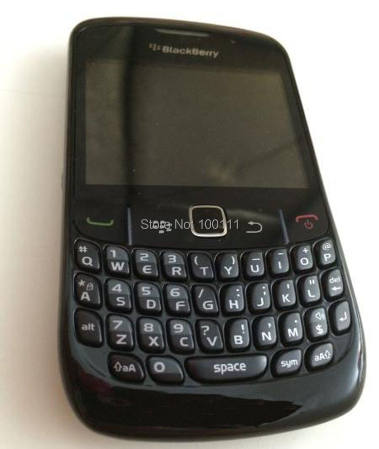 In stocked /Refurbished Original BlackBerry Curve 8520 Mobile phone with unlocked 2MP QWERTY Keyboard ( black) / Free Shipping(Hong Kong)