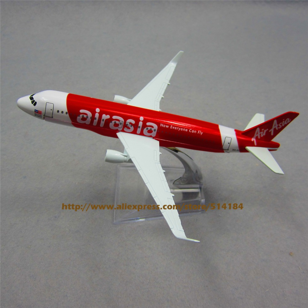 16cm Metal Asian Air Asia Airasia Airlines Airbus 320 A320 Now Everyone Can Fly Airplane Model Airways Plane Model w Stand(China (Mainland))