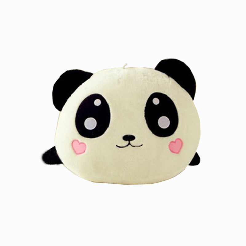 Buy one for one Free Cute Plush Doll Toy Stuffed Animal Panda Pillow Quality Bolster Gift 25cm get Flower Sweet Headband baby(China (Mainland))