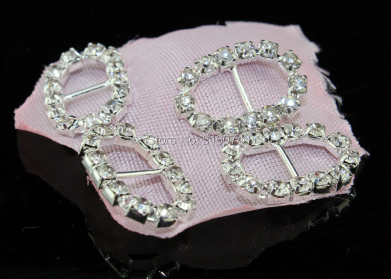 Factory price ellipse Rhinestone buckle,80pcs,crystal wedding invitations hair accessories,wedding decoration and invitations(China (Mainland))