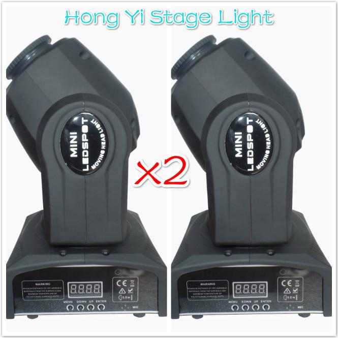 Free shipping HOT/ 2pcs/lot Eyourlife LED Inno Pocket Spot Mini Moving Head Light 10W DMX dj 8 gobos effect stage lights(China (Mainland))