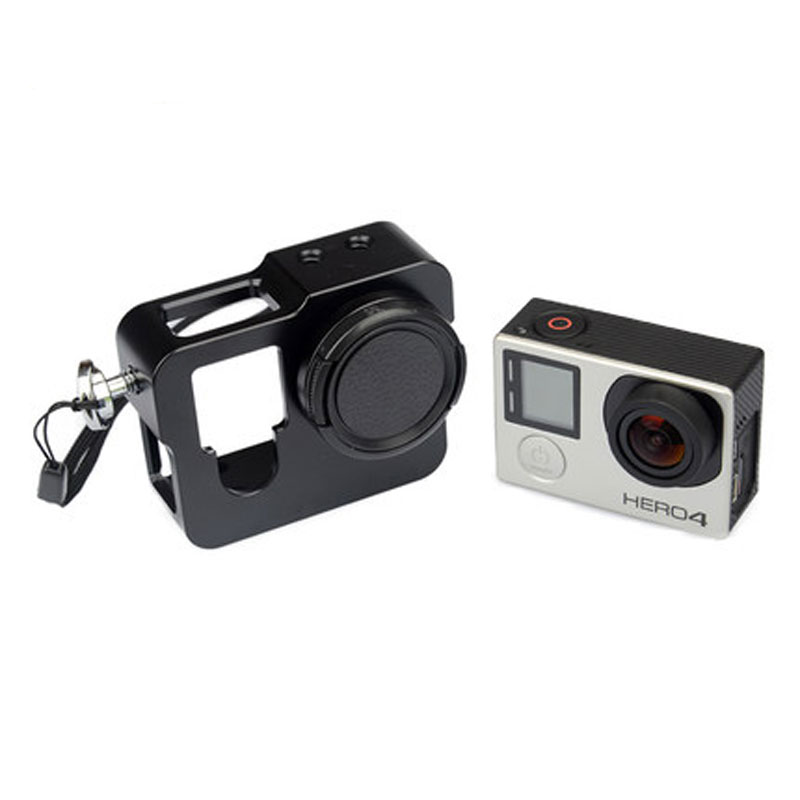 Gopro Frame Aluminium Metal Alloy Rig Housing Protective Case Frame With 37mm