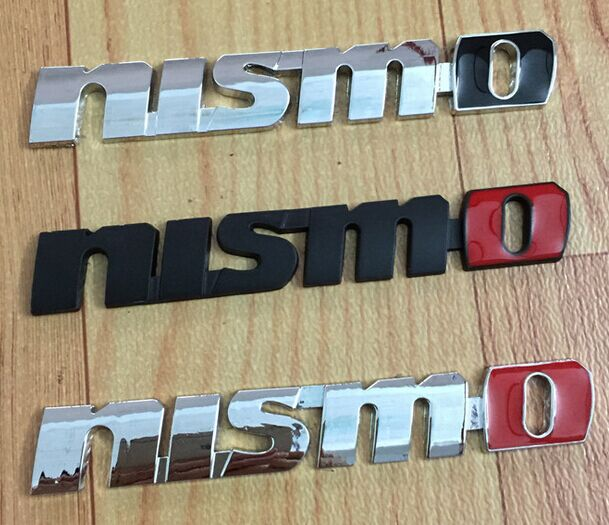 2016 Chrome Metal Nismo Badge Emblem 3D Decal Sticker on Grille Emblem Accessories For Nissan Tiida Teana Dropship car styling(China (Mainland))