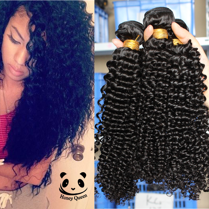 3Pcs/Lot Indian Virgin Hair Kinky Curly Virgin Hair 7A Indian Curly Virgin Hair Raw Indian Hair Bundles Natural Color 10-26