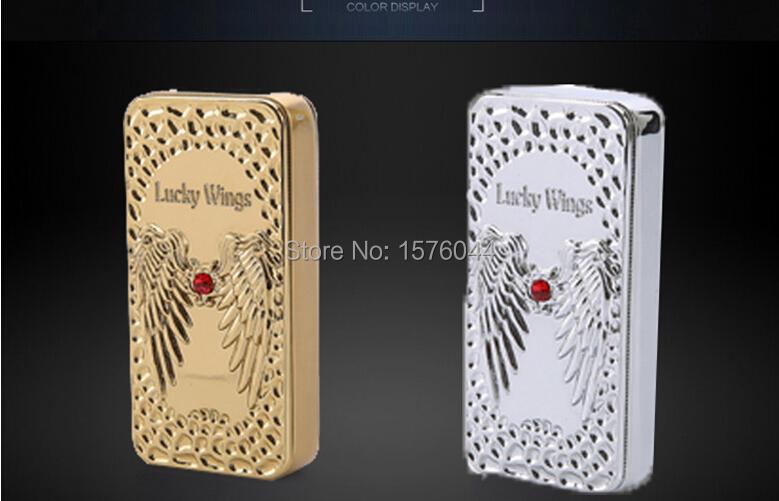 ถูก E4089สร้างสรรค์บุคลิกภาพแองเจิลปีกบรรเทาบุหรี่อิเล็กทรอนิกส์เบาซูเปอร์บางไฟลมแบบชาร์จไฟUSBเบา