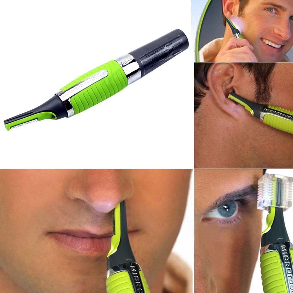 Nose Ear Face Neck Eyebrow Hair Trimmer Shaver Clipper Cleaner Health Care 9017(China (Mainland))