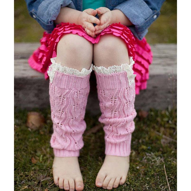 Ellialee Kids' Fashion Baby Girls' Knitting Leg Warmers Crochet Lace Trim Children Leg Warmers Winter Kids Boot Socks JT011(China (Mainland))