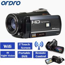 "Free shipping!ORDRO Protable Mini DV HDV-D395 Full HD 1080P 18X 3.0""Touch Screen Digital Video Camera Recorder(China (Mainland))"