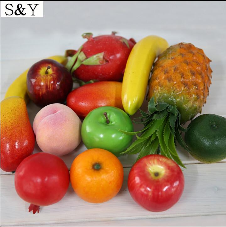 Fruits Decoration Decorative Plastic Fruit