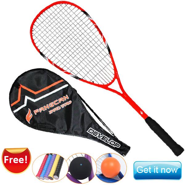 High quality Free shipping Beginner tainning orange squash racket squash racquet with free squash ball(China (Mainland))