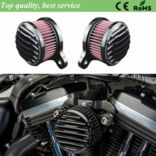 Harley Motorcycle Accessories Black Air Cleaner Intake Filter System Kit For Harley Sportster XL883 XL1200 X48 2014-2015 Black(China (Mainland))