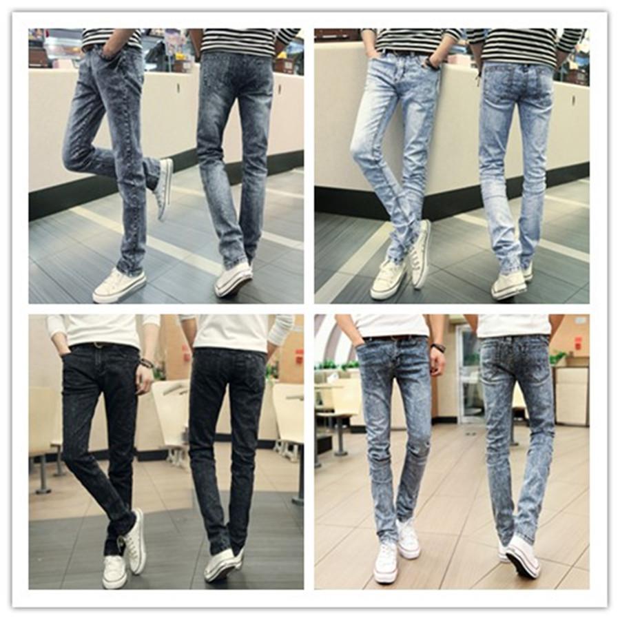 Men's Waist Jean Feet Aj Fashion Casual Slim Jeans Stretch Men High Quality Korean Men's Jeans Breathable Men's Waist Jean Feet(China (Mainland))
