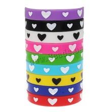 10 Pcs Word Logo Customzied Heart Print Unisex Turret Games Bracelets Bangles Flexible Friendship Bracelets Wristband Bangles(China (Mainland))
