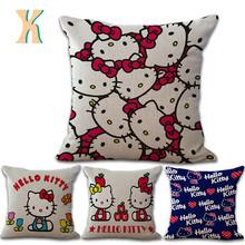 Hello kitty cat printed sofa throw cushion cover
