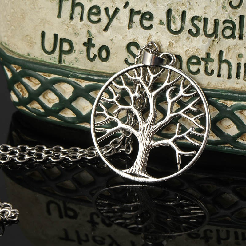 Chokers Choker Collares Vintage Tree of Life Statement Silver Chain Necklaces & Pendants long Necklace Necklaces For Women N1994(China (Mainland))