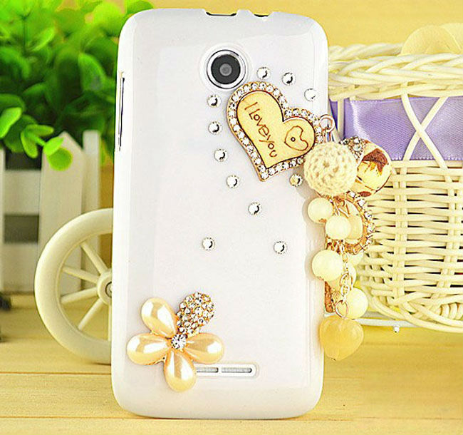 Free Shipping diamond Bling jewels heart and flower crystal cover case for iphone 6 Accessories(China (Mainland))