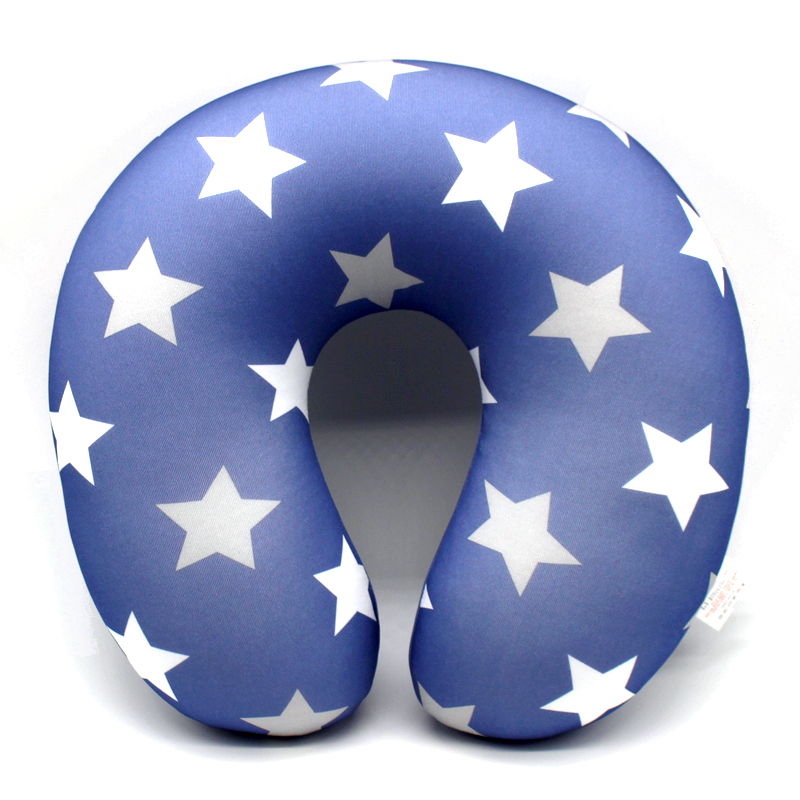 2016 new fashion U shape Neck Pillow blue star pillow Rest Airplane Car Travel Pillow Foam Pillow body massager kissen(China (Mainland))