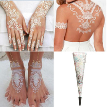 Natural White Henna Cones Tatoo Tube Indian Temporary Tattoo For Bridal Decor Body Art Paint Wedding Accessories(China (Mainland))